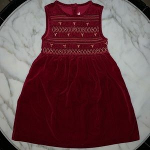 GAP | Red Velvet Dress